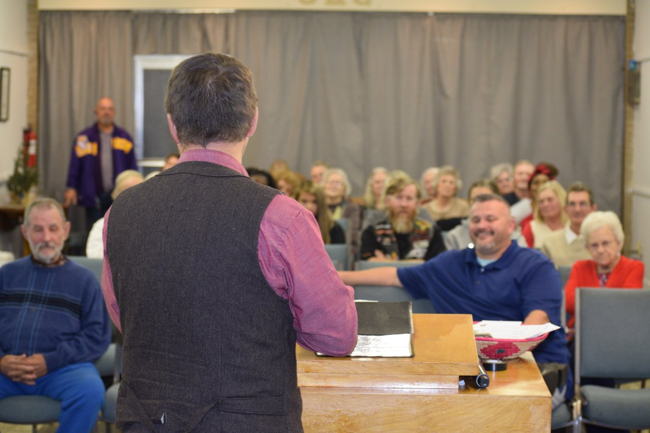 Prattville congregation listening preaching during church service