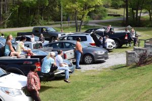 URC Congregation during Drive In Meeting at Church's parking lot