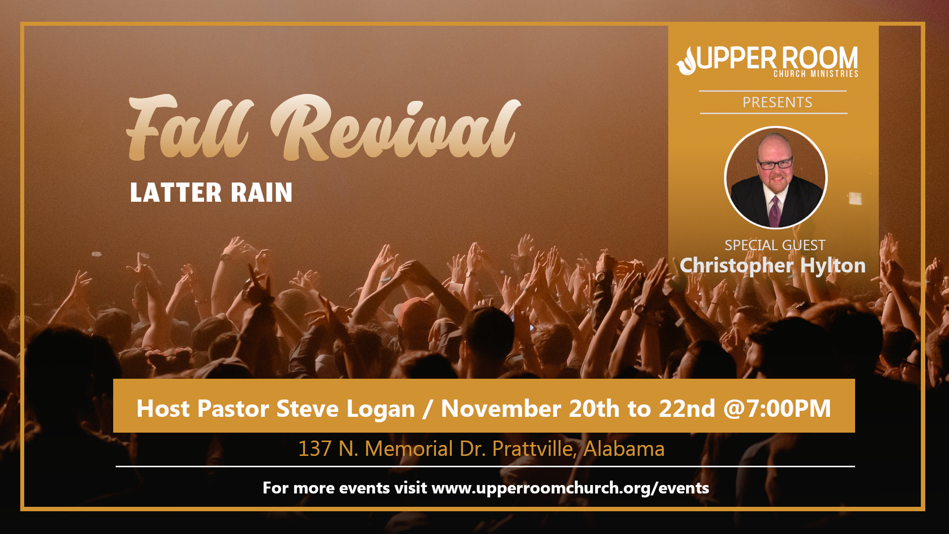 Fall Revival - Latter Rain Flyer